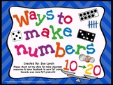 Ways to Make Numbers {Decompose} 10-20 display/center sort math CC standards