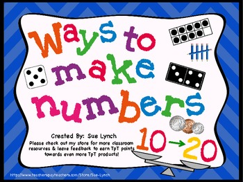 Ways to Make Numbers {Decompose} 10-20 display/center sort