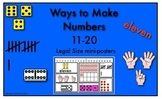 Ways to Make Numbers 11-20 (Legal Size Posters)