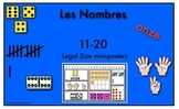 Ways to Make Numbers 11-20 (Legal Size Posters) in French
