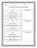 Ways to Make Numbers Worksheet