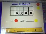 Ways to Make Six (ten Frame Activity)