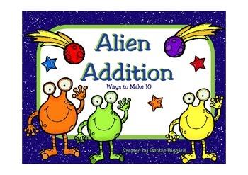 Ways to Make Ten : Alien Addition