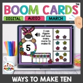 Ways to Make Ten Digital Task Cards Boom Spring Themed