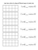 Ways to Make Ten - worksheet