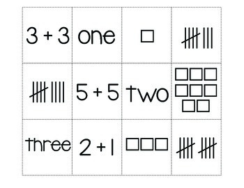 Ways to Make a Number 1-10 Cut & Paste Student Reader