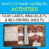 Ways to Make a Number Bracelets, Task Cards, and Recording Sheet