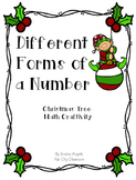 Number Forms- Christmas Craftivity