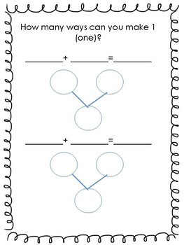 Ways to Make a Number! {My Number Bond Book!}