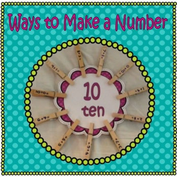Ways  to Make a Number - Fact Flowers