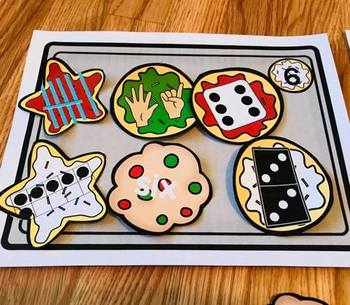 #tptsupportsmallshops Ways to Make a Number--Subitizing Holiday Cookies