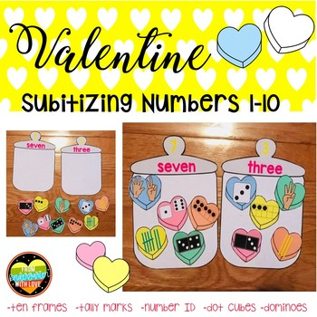 Ways to Make a Number Valentine Subitizing