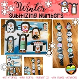Ways to Make a Number Winter Subitizing Penquin & Snowman