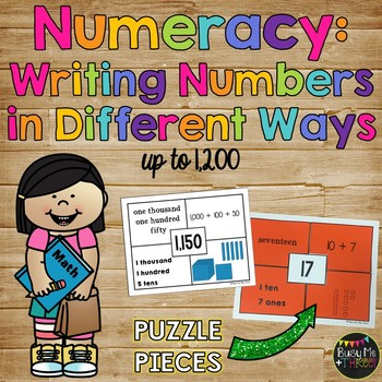 Numeracy Activitiy {Writing Numbers in Different Forms Up to 1,200}