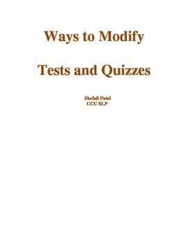 Ways to Modify Tests for Special Needs Students