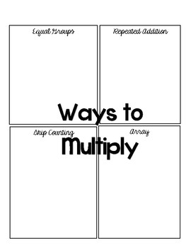 Ways to Multiply