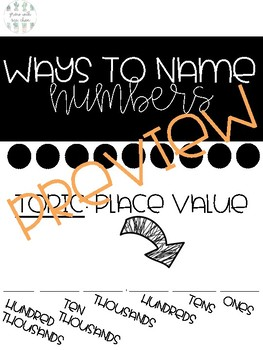 Ways to Name Numbers