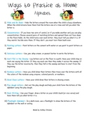 Ways to Practice at Home - Alphabet