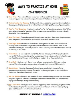 Ways to Practice at Home - Comprehension