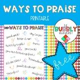 Ways to Praise Handout