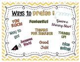 Ways to Praise Poster