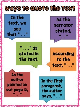 Ways to Quote the Text Anchor Chart