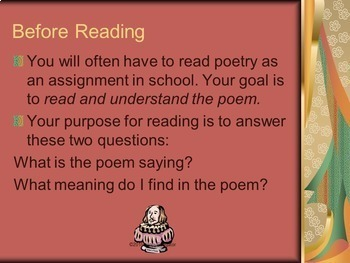 Poetry: Ways to Read Poetry PowerPoint