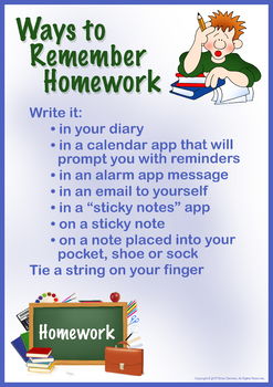 Ways to Remember Homework