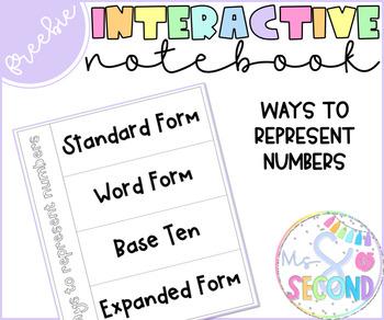 Ways to Represent Numbers | Interactive Notebook