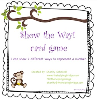 Ways to Represent a My Number! card game