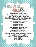 Ways to Say Class, Yes Poster