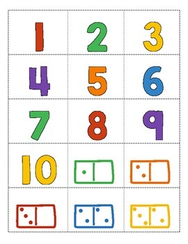 Ways to Show 1-10: A Sorting Activity!