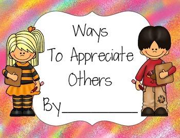 Ways to Show Appreciation Book