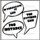 Ways to Show Evidence Speech Bubbles