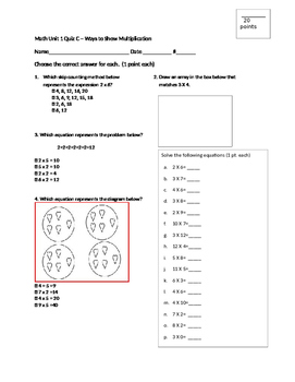 Ways to Show Multiplication Quiz