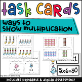 Ways to Show Multiplication Task Cards and Sort (Bonus Posters)