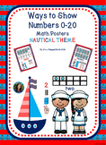 Ways to Show Numbers 0-20 Math Posters Nautical Theme