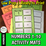 Ways to Show Numbers 1-10 Activity Mats for Number Sense