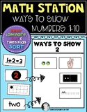 Ways to Show Numbers 1-10 Sort {Math Station} Common Core