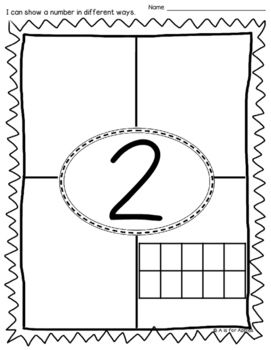 Ways to Show Numbers 1-10 {Printables}