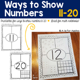 Ways to Show Numbers 11-20 {Printables}