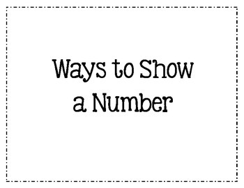 Ways to Show Numbers