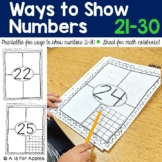 Ways to Show Numbers 21-30