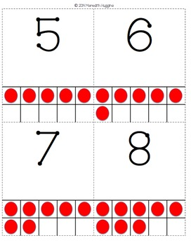 Number Cards with Ten Frames, Base Ten Blocks, Dominoes, Tallies, Coins & Words