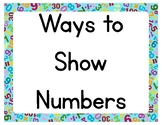 Ways to Show Numbers Posters