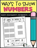 Ways to Show Numbers Sorting {Common Core Math} for Kinder