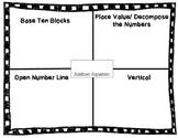 Ways to Show Three Digit Addition Organzier