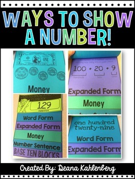 Ways to Show a Number {Flipbook}