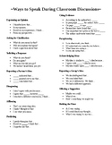 Ways to Speak During Classroom Discussions