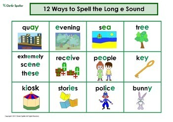 Ways to Spell Long Vowel Sounds Charts
